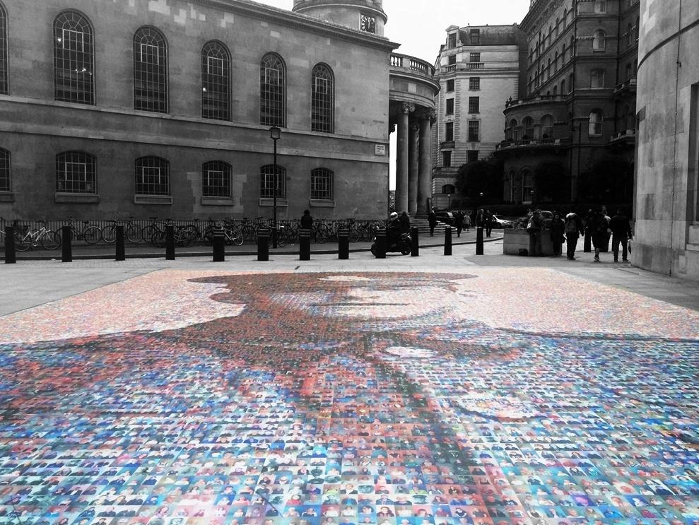 Digital mosaic of fallen World War One private